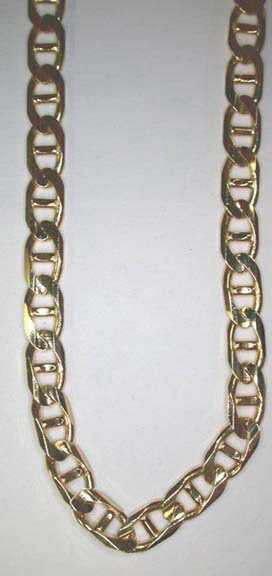 anchor chain in 14k yellow gold