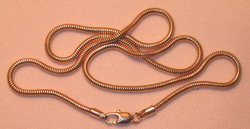 Snake Chains in 14k yellow gold