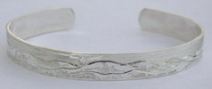 engraved thin cuff bracelet