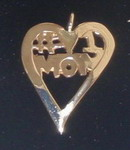 14k Gold #1 Mom Pendant
