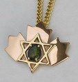 Mapleleaf jewish star of david Ammolite
