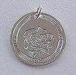 Rose medallion in silver