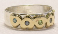 Alternating and Straight Heart & Birthstone Rings