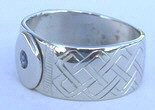 Celtic Weave and Cross with Sapphire ring