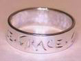 Name & Initial rings - engraved around