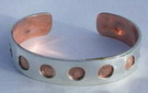bracelet designs silver and copper