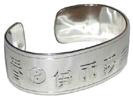 chinese character cuff bracelet