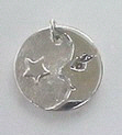 silver pendant Moon and Star
