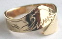 gold eagle ring